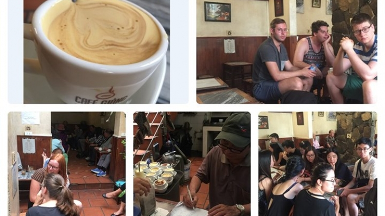 Hanoi's egg coffee attracts foreign travellers