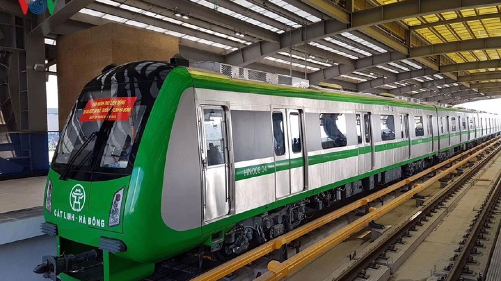 Cat Linh-Ha Dong metro line test run begins today