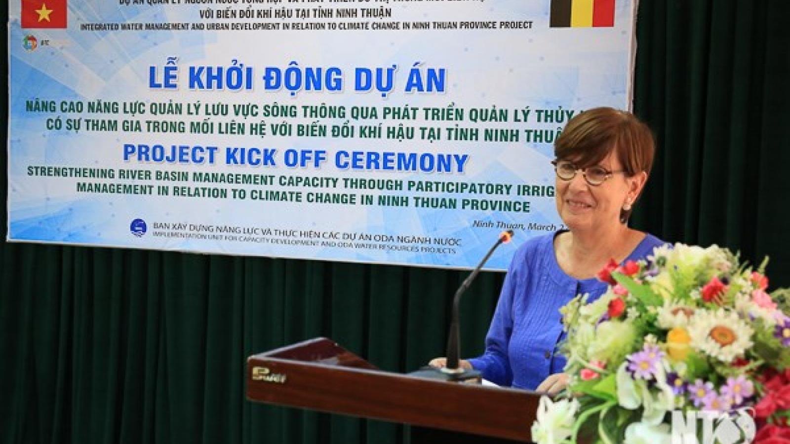 Belgium assists Ninh Thuan in river basin management