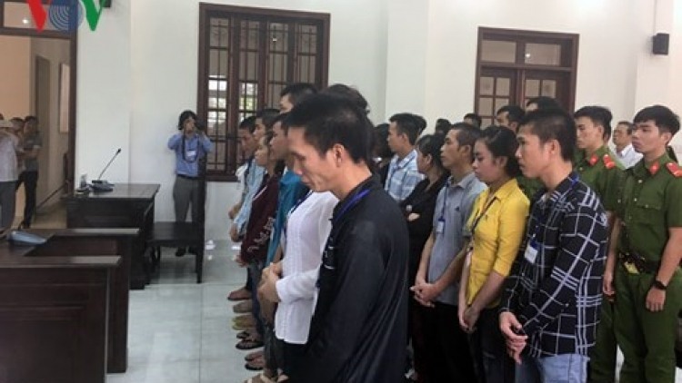 Dong Nai: 20 stand trial for social disturbance
