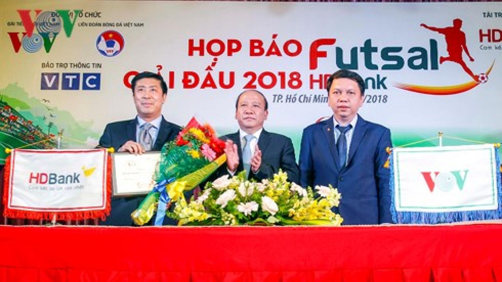 National Futsal HDBank Championship 2018 to kick off