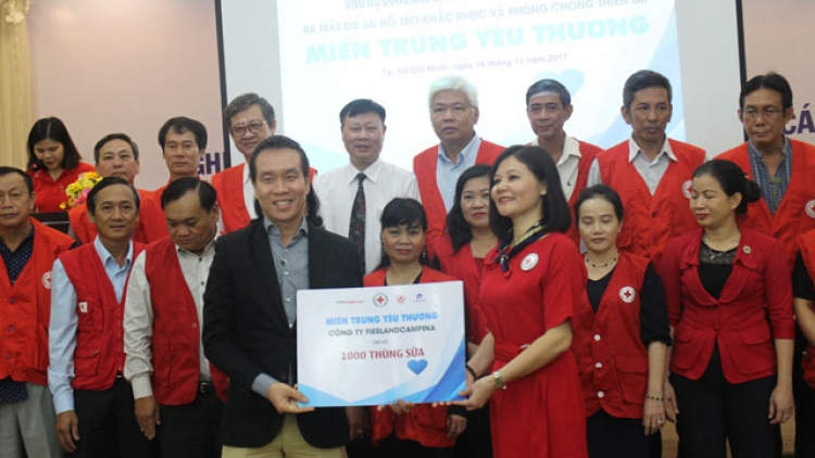 Frieslandcampina Vietnam offers milk to children in storm-hit localities
