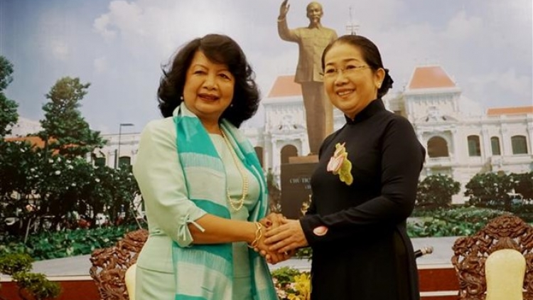 HCM City leader greets Global Summit of Women President
