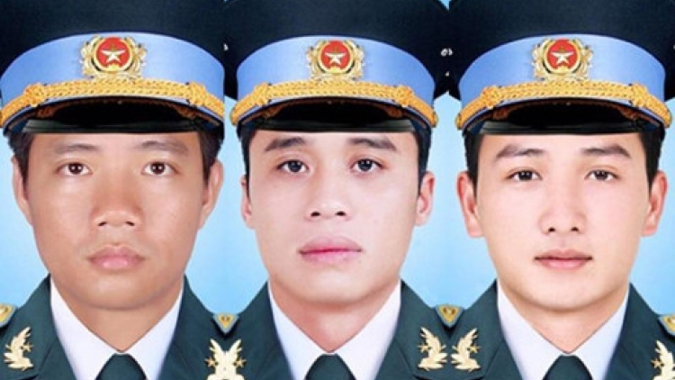 Memorial service for three crewmembers killed in EC 130 crash