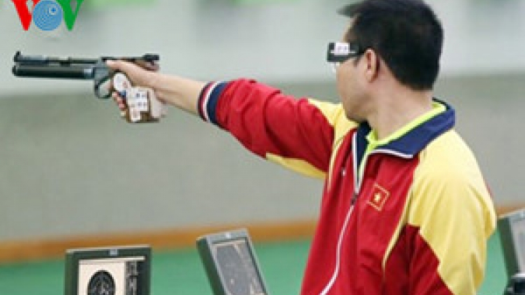 Xuan Vinh wins silver in Air Pistol at ISSF World Cup