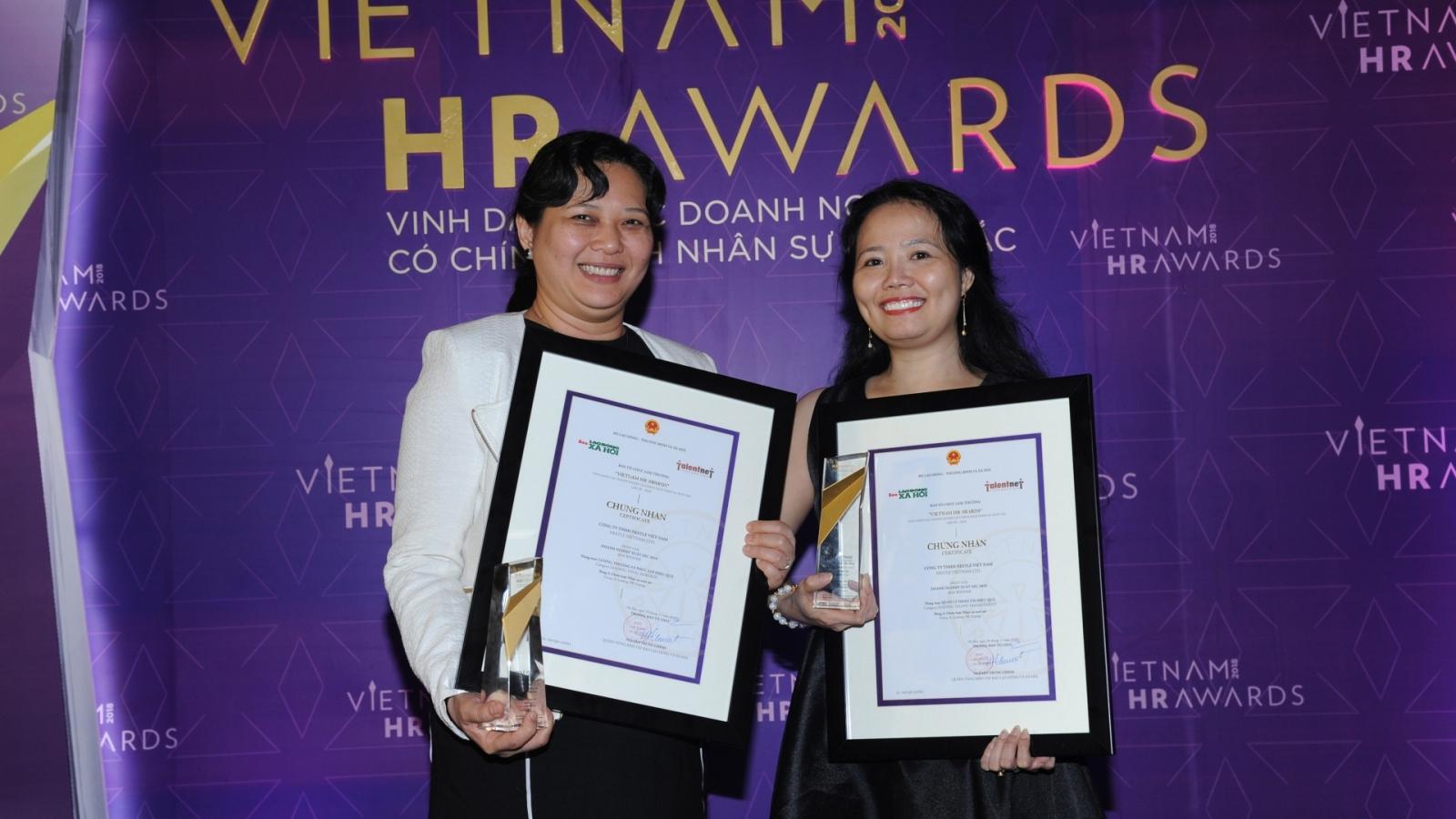Nestlé Vietnam honoured at 2018 Vietnam HR Awards