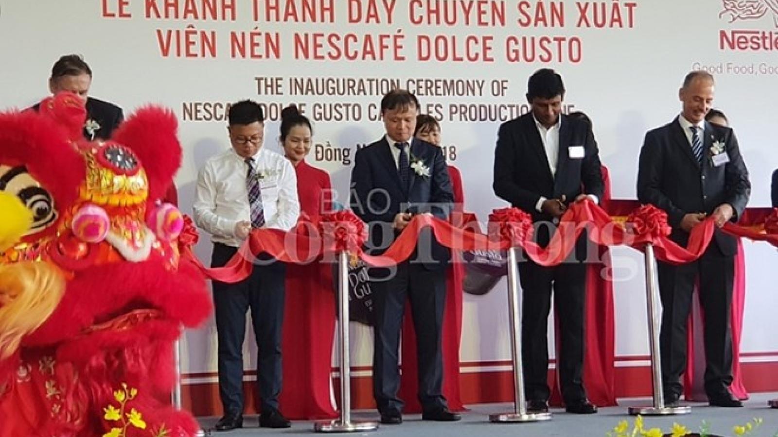Nestle inaugurates new coffee capsule production line in Vietnam