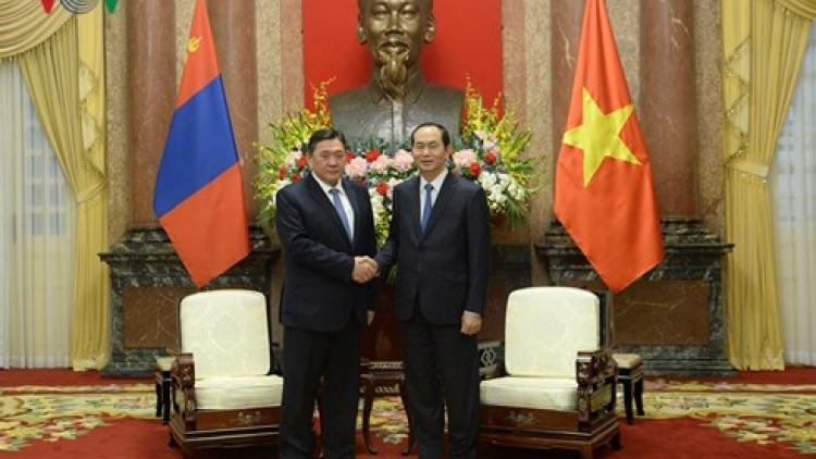 President Quang upbeat about growing Vietnam-Mongolia ties