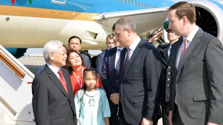 Party leader begins Russia visit