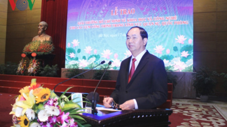 President bestows Ho Chi Minh Awards of Science and Technology