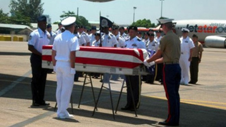 US servicemen's remains handed over