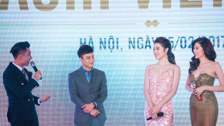 Huyen My, Tu Anh look gorgeous at Hanoi event