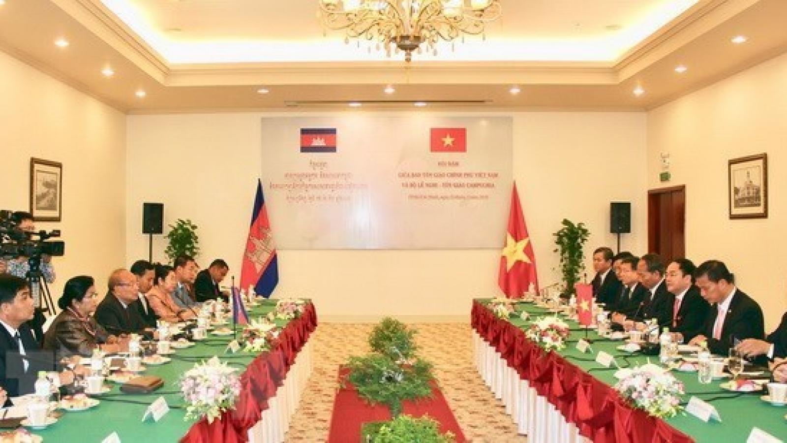 Vietnam, Cambodia promote cooperation in religious affairs