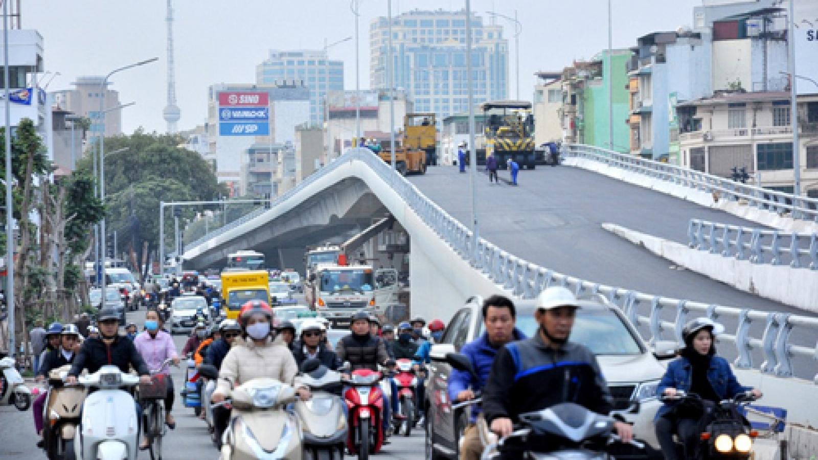 Major new interchange with overpass set to open in Hanoi