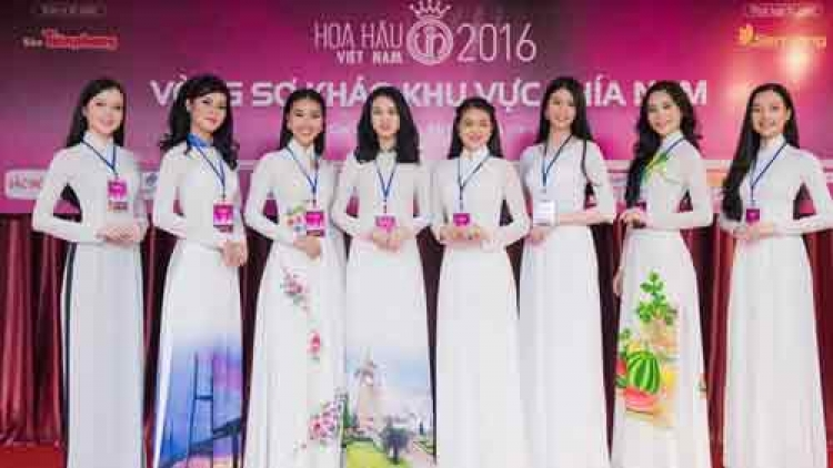 Prominent beauties compete at Miss Vietnam 2016 qualifying round