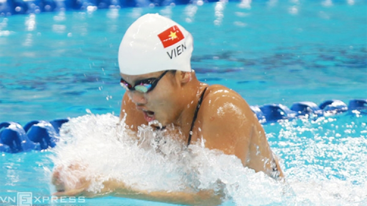 Anh Vien reaches finals at FINA Swimming World Cup