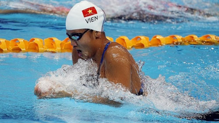 Anh Vien aims high for Asian Swimming Championship 2016