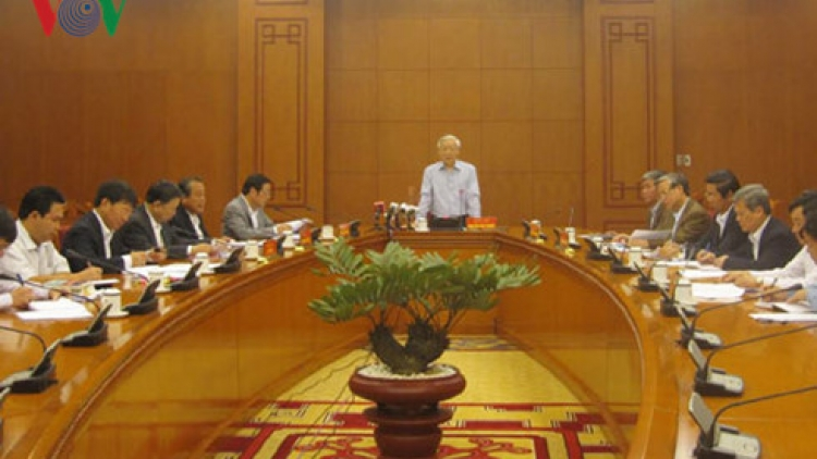 Party chief chairs meeting on anti-corruption