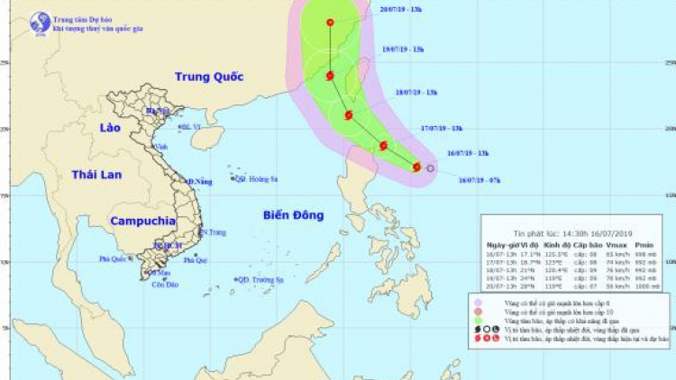 Typhoon Danas likely to strengthen further as it heads north-west