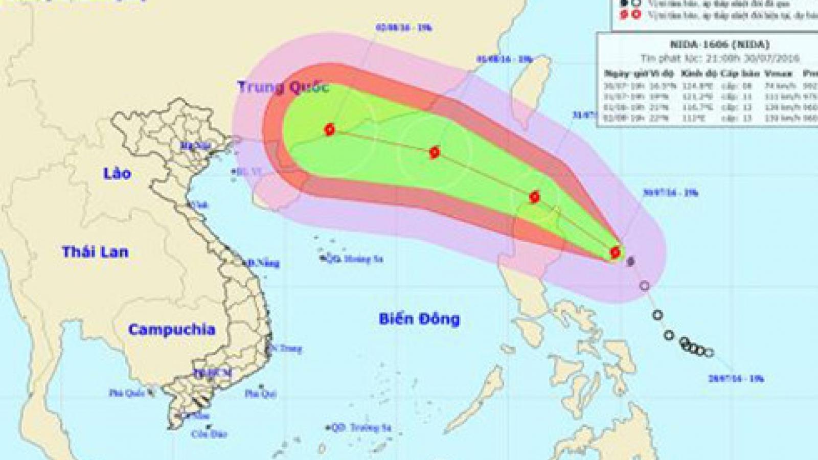 Typhoon Nida strengthens, coastal localities put on alert