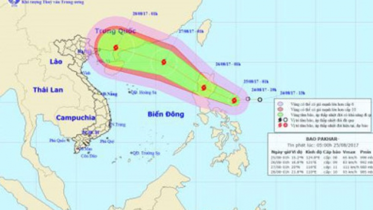 Pakhar threatens northern Vietnam with heavy rain, flooding