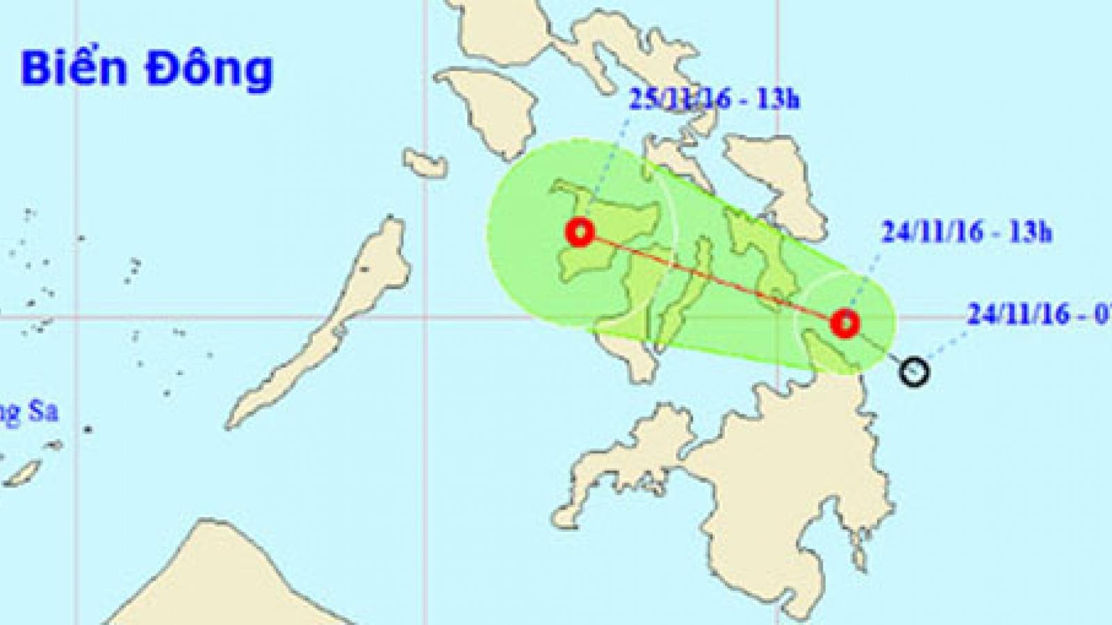 Tropical depression heads towards East Sea