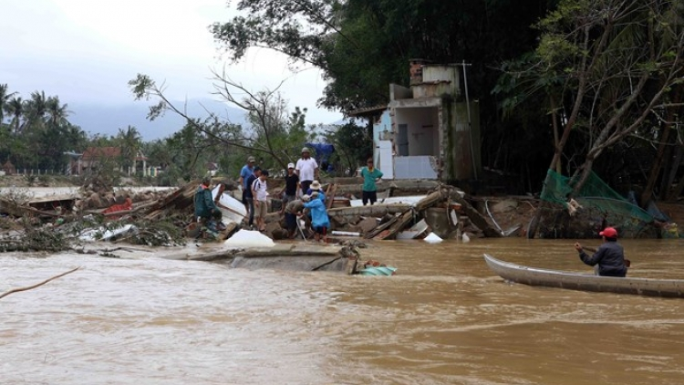 Government allocates rice to flood victims in Binh Dinh