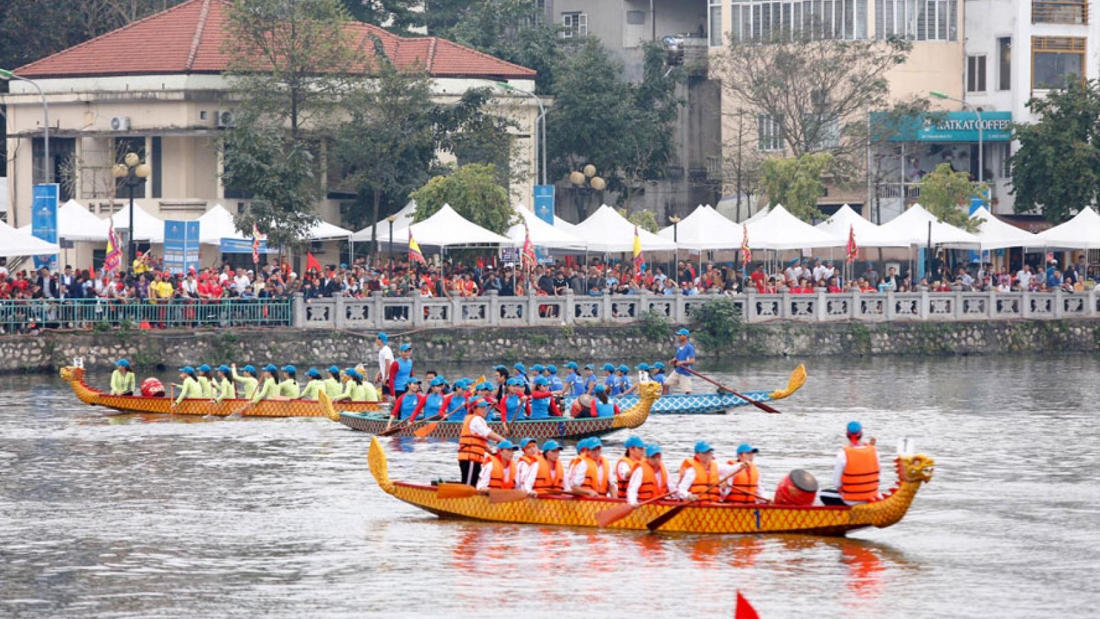 Open Hanoi Dragon Boat Racing Festival 2019 begins