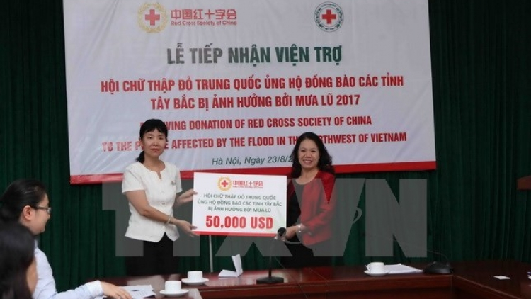 China's Red Cross supports flood-affected northern localities
