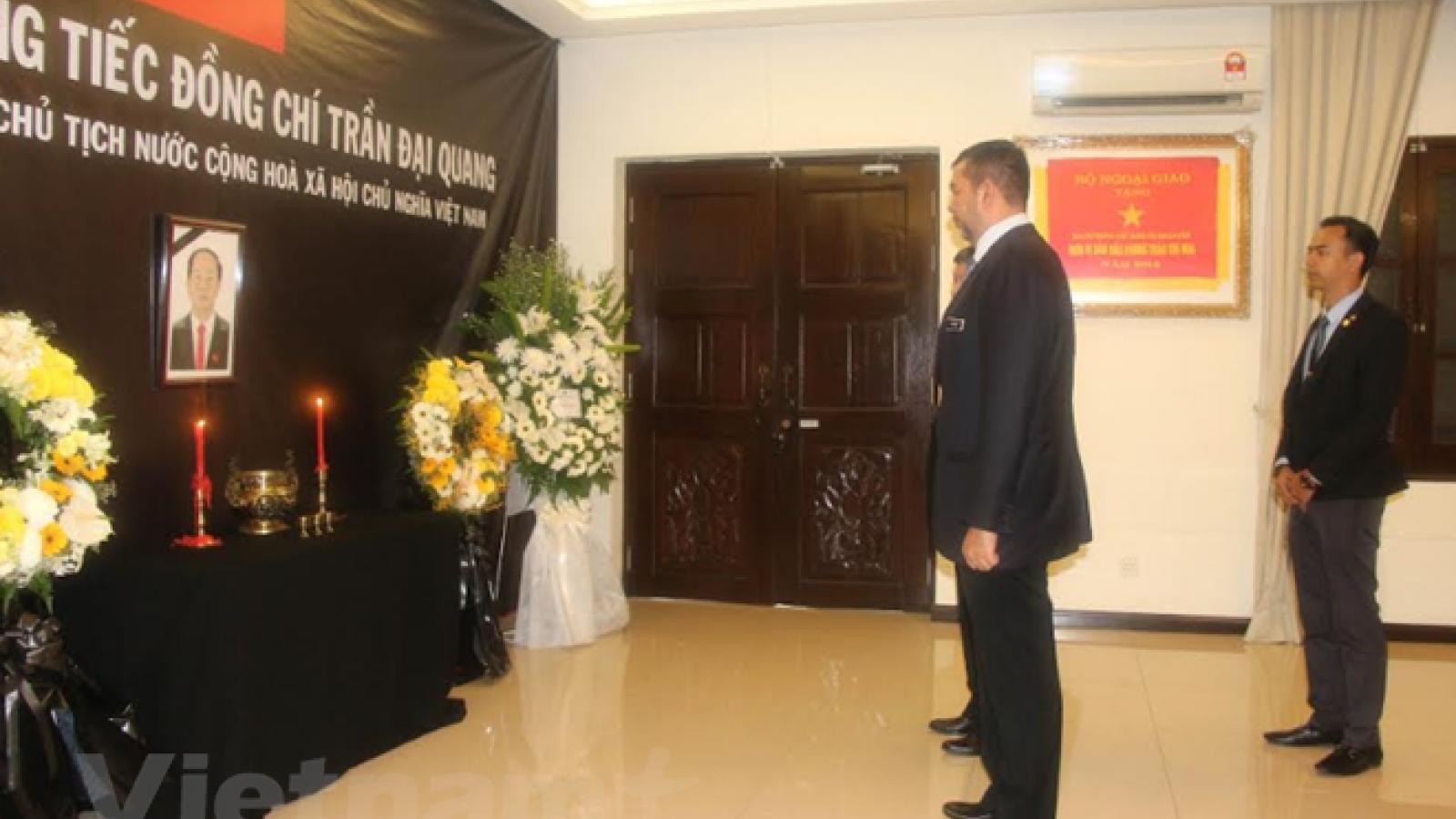 Memorial ceremonies for President Quang in Malaysia, Bangladesh, Hong Kong