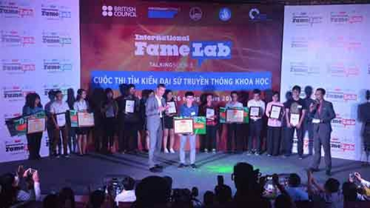 Hanoi student cruises into FameLab 2016 finals in UK