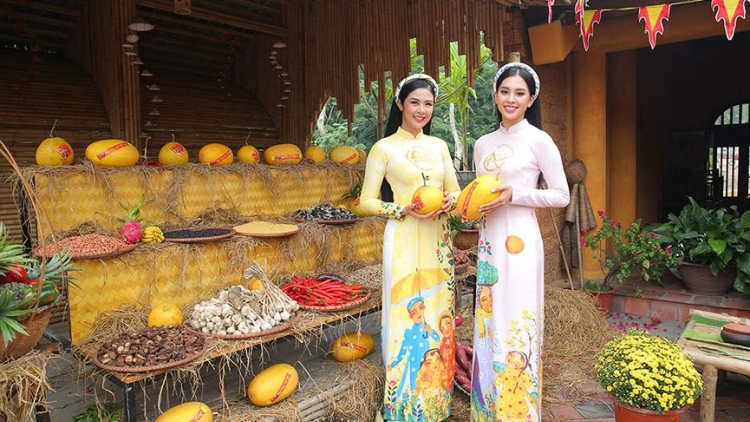 Beauty queens dazzle in Tet programme