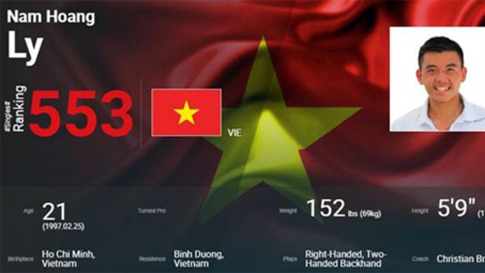 Ly Hoang Nam falls to No. 553 in ATP ranking