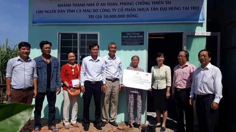 Disaster-proof houses built for poor people in Mekong Delta
