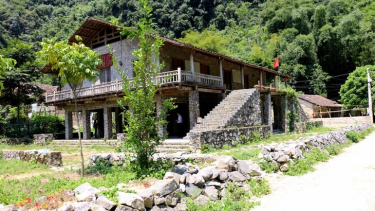Rock stilt houses of Tay ethnic people in Cao Bang province