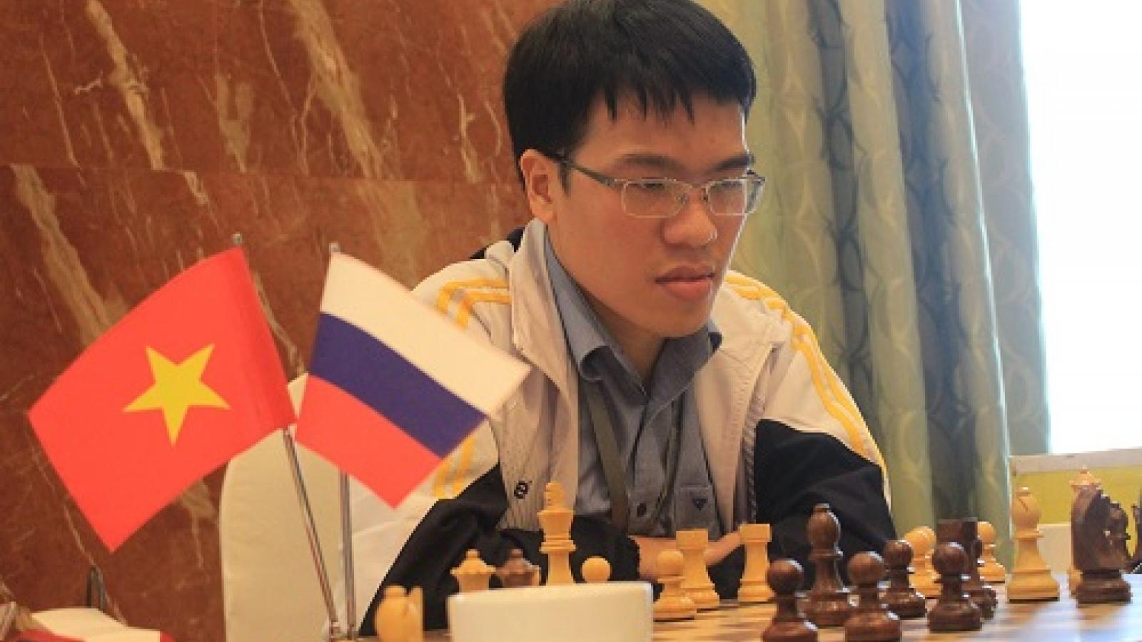 Quang Liem competes at Danzhou Super Grandmaster Chess Tournament