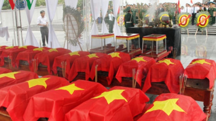 Remains of Vietnamese soldiers killed in Laos return home