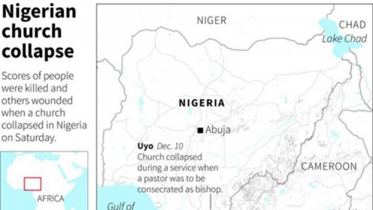 More than 100 killed in church collapse in Nigeria -journalist, resident