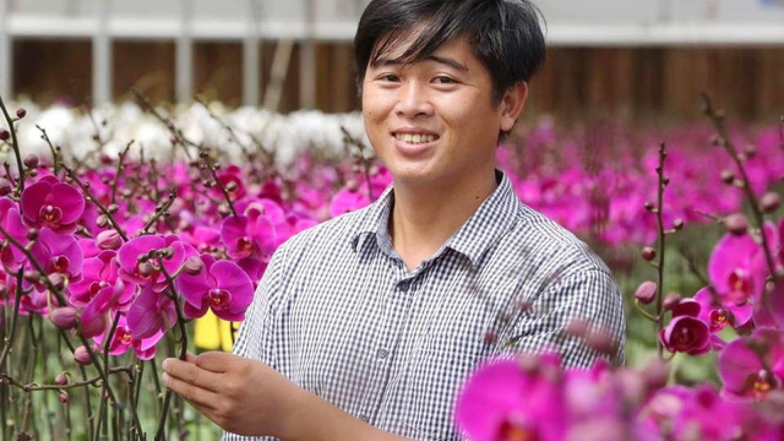 Vietnamese orchid farmer thrives on arid land