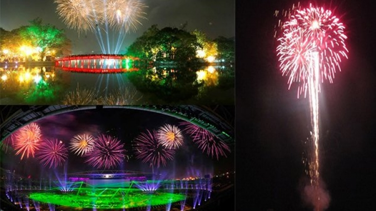 New Year firework displays in HCM City