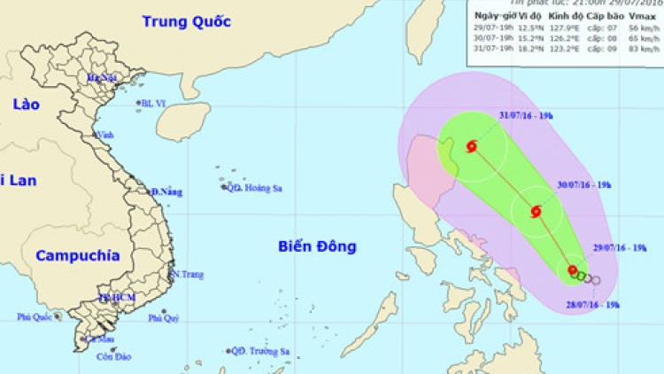 Tropical depression appears in East Sea
