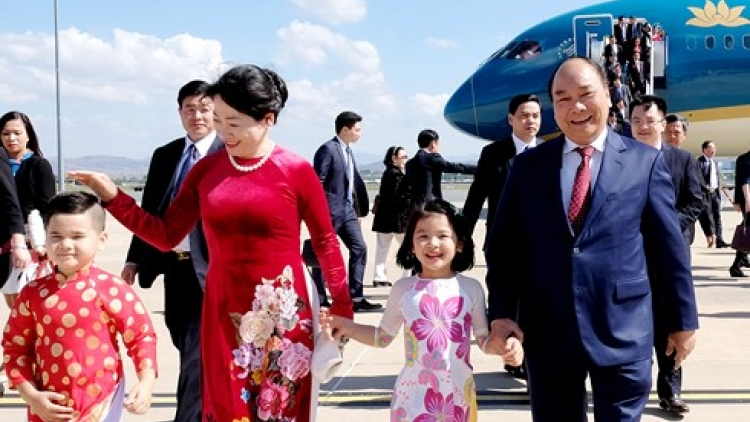 PM Phuc arrives in Canberra, starting official visit to Australia