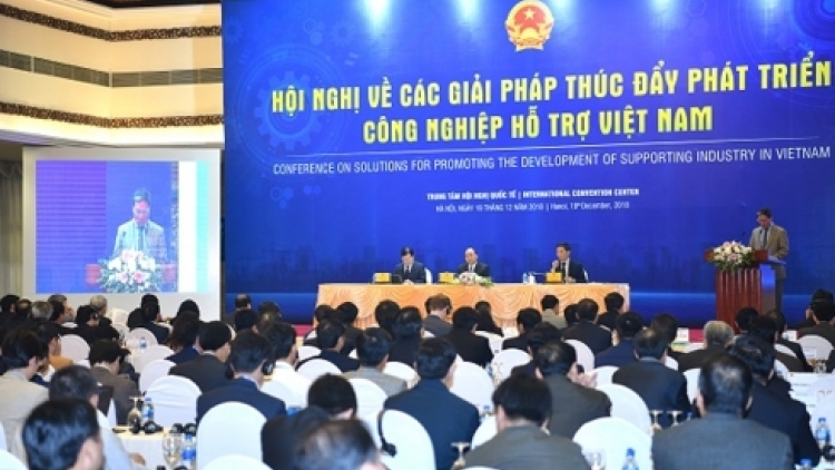 Conference discusses solutions to promote supporting industry