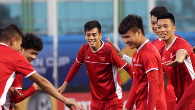 Vietnam's national team holds first training session in the UAE