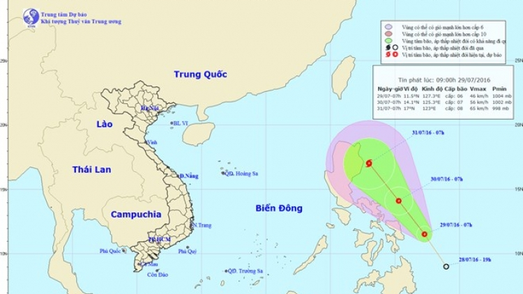Tropical depression may grow into storm, hit East Sea
