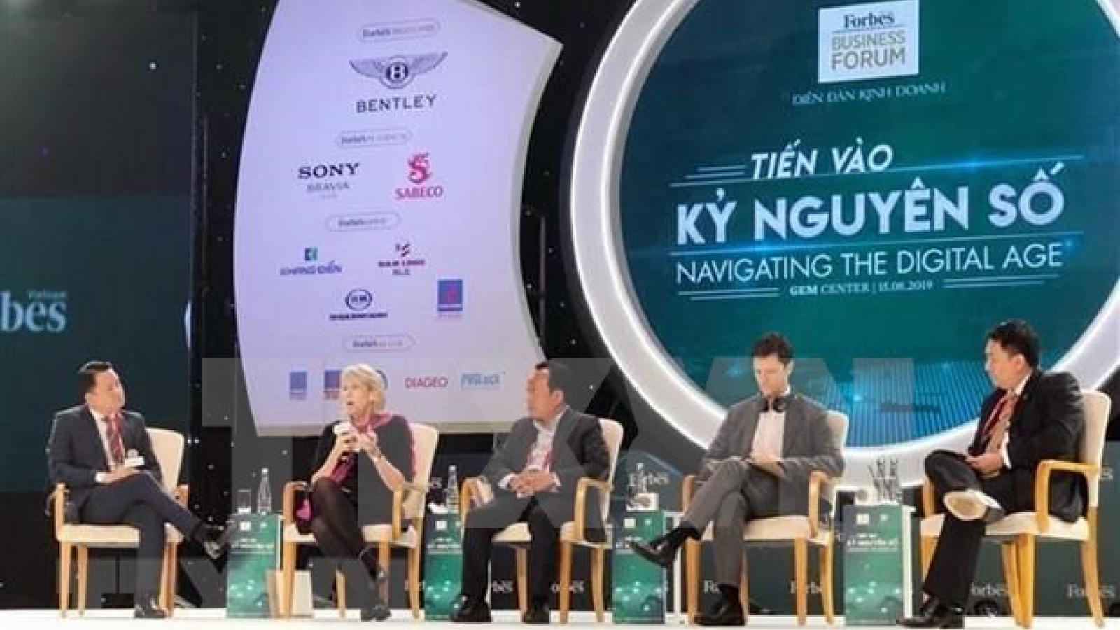 Forbes business forum confers Vietnam navigating digital age