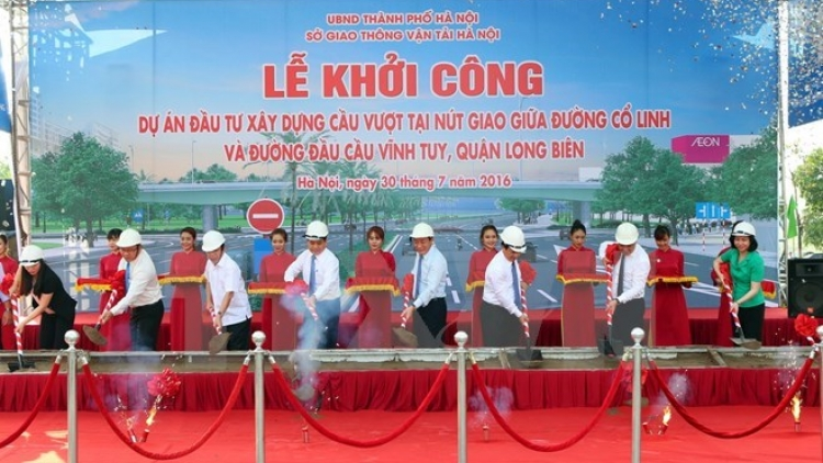Construction begins on new overpass in Hanoi