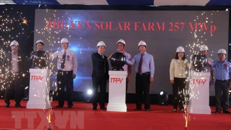 Solar power plant inaugurated in Phu Yen province