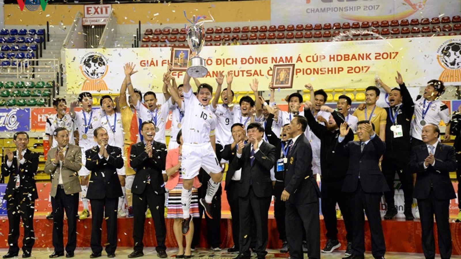 Thailand triumphs at AFF HDBank Futsal Championship 2017