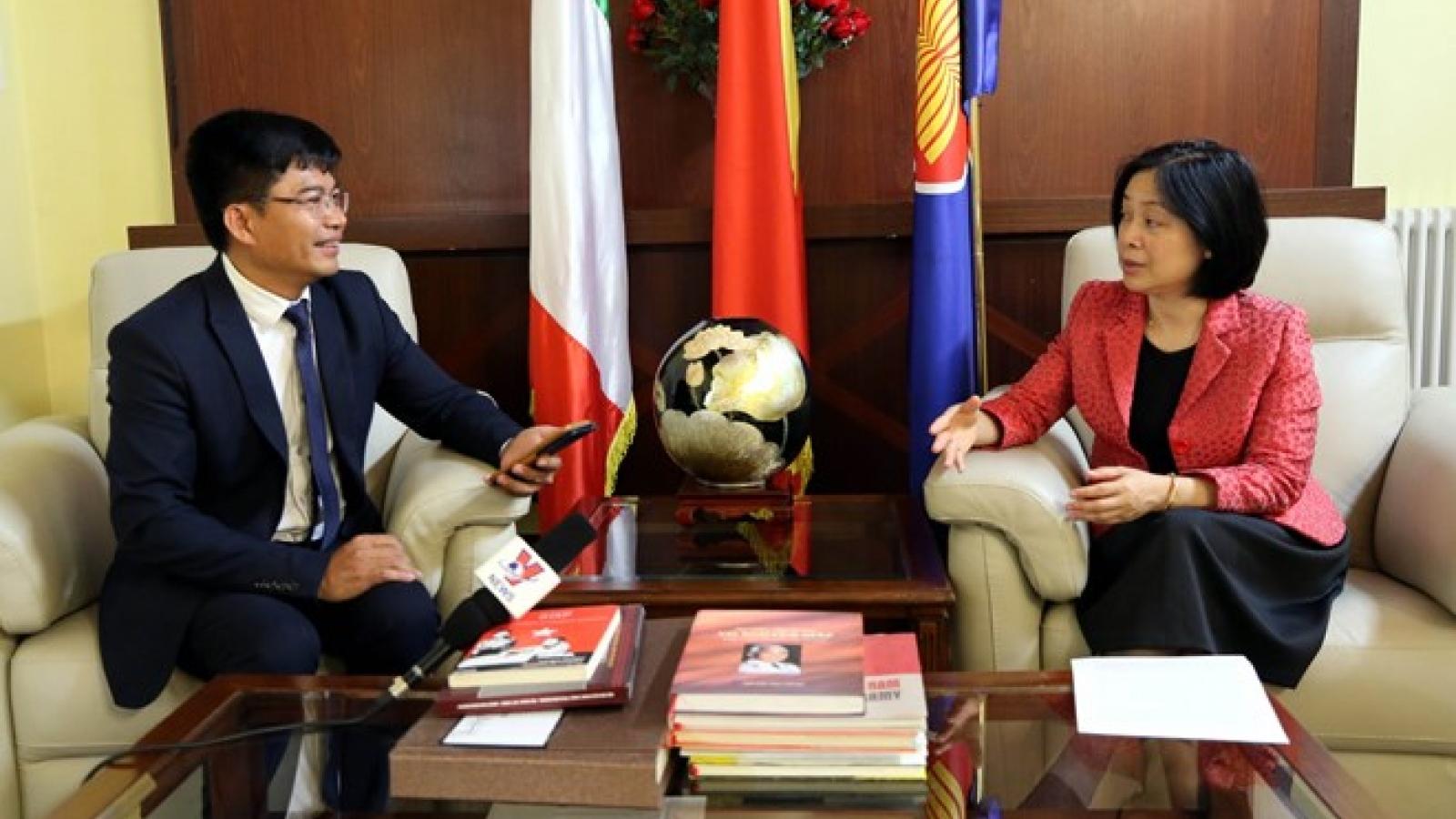 Vietnam-Italy relations on positive development